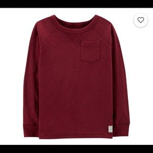 Oshkosh B'Gosh Raglan Thermal Tee Burgundy 4T